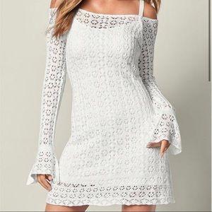 Super cute Venus crochet cold shoulder dress